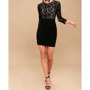 She Knows Black Lace Bodycon Dress